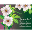 Green Floral Background with Text Space vector image vector image