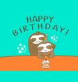 happy sloth dad and son cartoon humor birthday vector image vector image