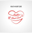 health amp heart care typographical design vector image vector image
