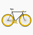 hipster single speed bike in black and gold colors vector image
