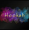 hookah golden fruit design relaxation vector image vector image
