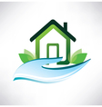 house symbol on the palm icon vector image