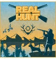 Hunting Colored Poster vector image