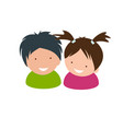 kids icon two little babies vector image