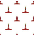 kremlin icon in cartoon style isolated on white vector image