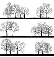 landscapes with winter trees vector image vector image