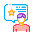 man bonus consultant icon outline vector image