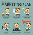Marketing plan infographics vector image vector image