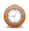 Metallic alarm clock vector image vector image