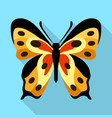 monarch butterfly icon flat style vector image