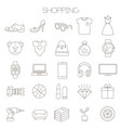 online store sopping icon set vector image