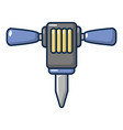 pneumatic hammer icon cartoon style vector image