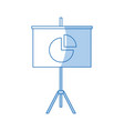 presentation financial board with graph flat icon vector image vector image