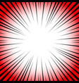 radial lines comic book speed explosion vector image