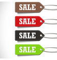 sale tags set isolated on a white background vector image vector image