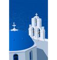 santorini greece vector image