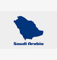 saudi arabia map logo vector image vector image