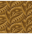 Seamless pattern with hand drawn waves and lines vector image vector image