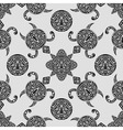 seamless pattern with polynesian symbols vector image