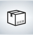 shipping icon package box vector image vector image