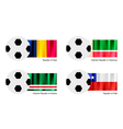Soccer Ball of Chad Chechen Republic Ichkeria vector image vector image