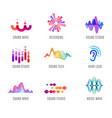 sound wave music production logo and symbol vector image vector image
