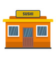 sushi shop icon flat style vector image vector image