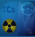 symbol of radioactive hazard a cesium atom 147 vector image vector image