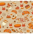 Teasweets seamless doodle pattern vector image vector image