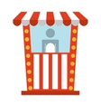 ticket office cinema icon vector image vector image