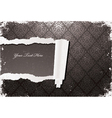 torn damask wallpaper with grunge vector image vector image