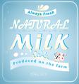 Vintage Posters milk vector image vector image