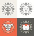 dog and cat icons and logos vector image