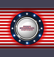 american backgrounds circle vector image vector image
