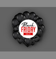 black friday sale background with flying balloon vector image vector image