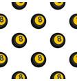 black snooker eight pool pattern flat vector image vector image