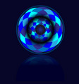 blue circle ball with shadow vector image vector image