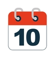 calendar reminder data icon vector image vector image