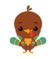 cartoon funny turkey vector image vector image