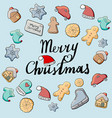 christmas gingerbread cookies the inscription vector image