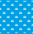 clothes button design pattern seamless blue vector image vector image