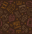 coffee seamless pattern caffeine separator dark vector image vector image