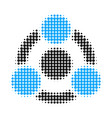 collaboration halftone dotted icon vector image