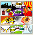 comics template retro comic book speech vector image