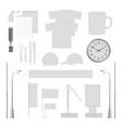 corporate branding identity template design set vector image