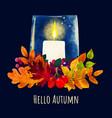 cozy autumn evening card design hand drawn art vector image vector image