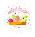 cute cartoon sweet fruits vector image