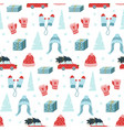 cute hand drawn christmas seamless pattern vector image vector image