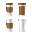 disposable coffee cup template vector image vector image