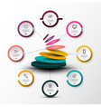 eight steps company web infographic concept with vector image vector image
